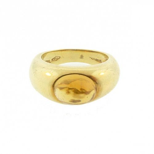 Vintage Tiffany & Co. 18K Gold & Cabochon Citrine Ring