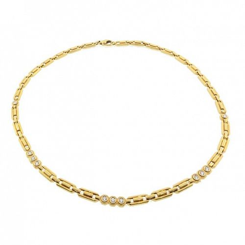 Fred of Paris 18K Gold Chain & Diamond Necklace