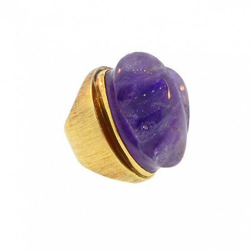 Haroldo Burle Marx 18K Gold & Amethyst Forma Livre Ring