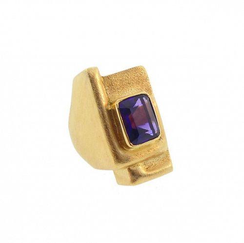 Roberto & Haroldo Burle Marx 18K Gold Amethyst Ring