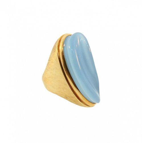 Burle Marx 18K Gold & Forma Livre Aquamarine Ring