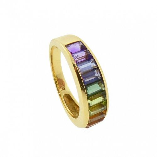 H Stern RAINBOW COLLECTION 18K Gold & Multi Gemstone Ring