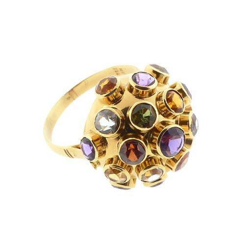 H Stern Sputnik Ring 18K Gold & Multicolored Gemstone