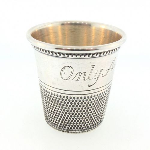 Thomae & Co. Sterling Silver Thimble Jigger