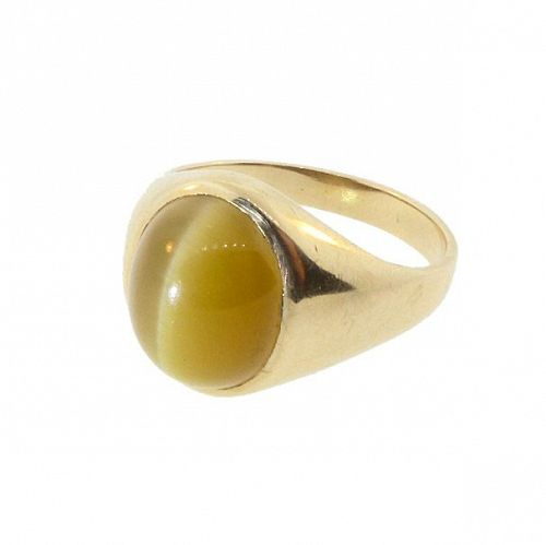 Cat�s Eye Chrysoberyl & 10K Yellow Gold Man�s Ring
