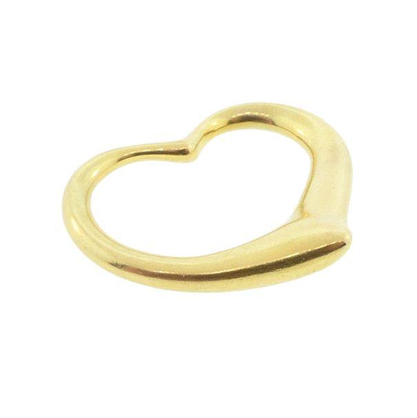 Tiffany Elsa Peretti 18K Gold XL OPEN HEART Pendant Necklace