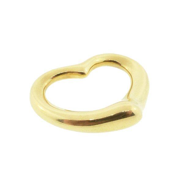 Tiffany Elsa Peretti 18K Gold Large OPEN HEART Pendant Necklace