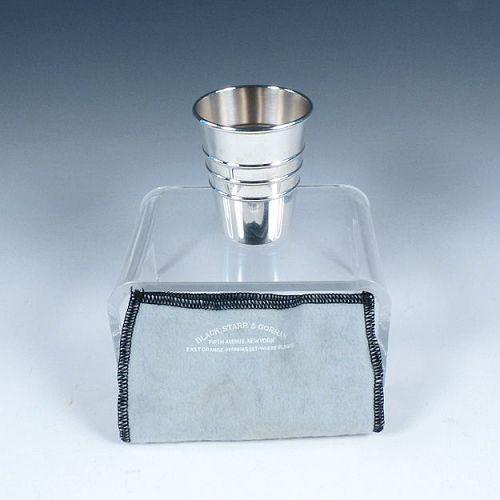 Mid-Century Sterling Silver Jigger Black Starr & Gorham