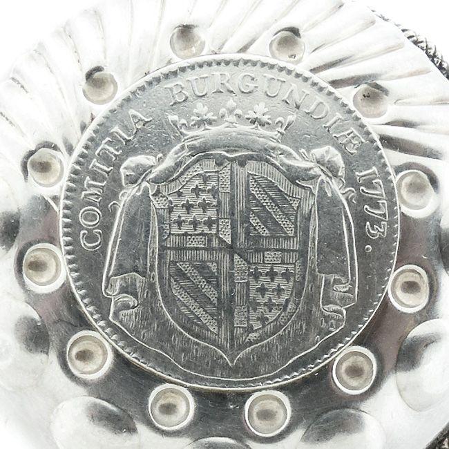 Silver Louis XV Coin COMITIA BURGUNDIAE Jeton Wine Taster Tastevin