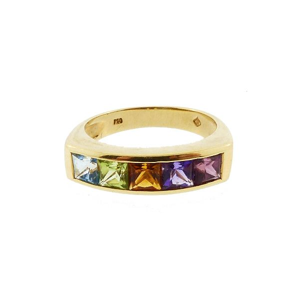 H Stern RAINBOW COLLECTION 18K Gold & Multicolored Gemstone Ring