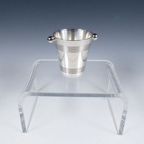 French Art Deco Silverplate Champagne Bucket Figural Jigger