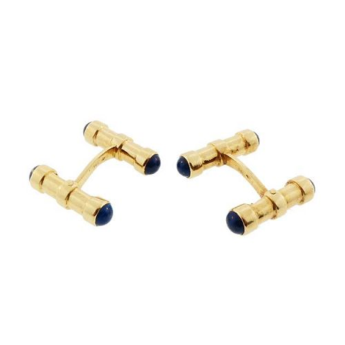 Art Deco 18K Gold & Lapis Lazuli Cufflinks by Gaetan de Percin