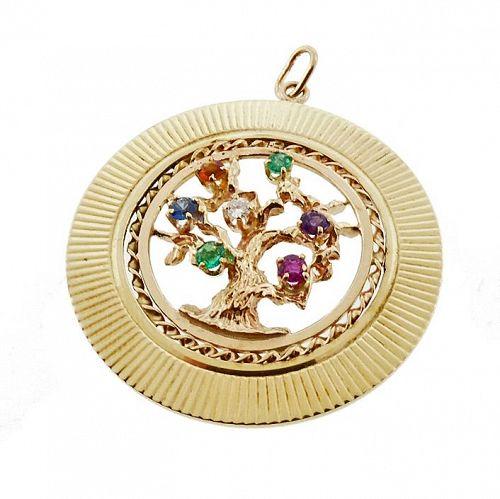 Vintage Tiffany 14K Gemstone Acrostic DEAREST Charm / Pendant