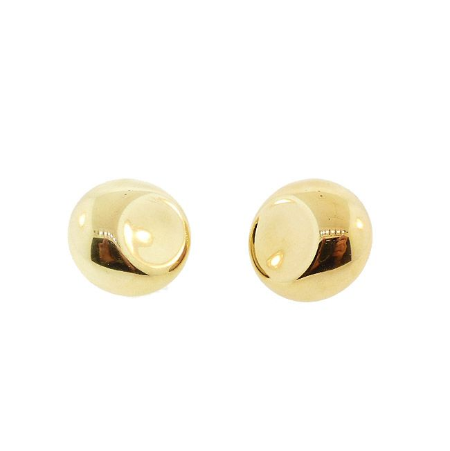 Elsa Peretti Tiffany & Co. 18K Gold ROUND Earrings
