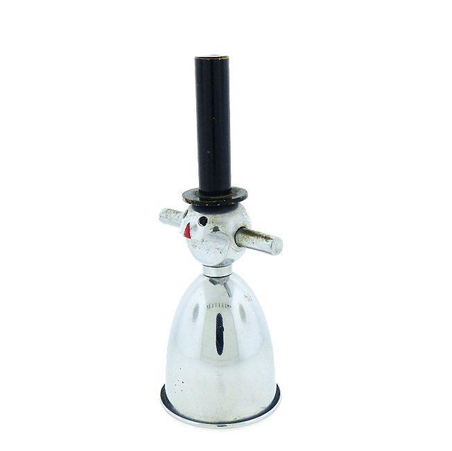 Art Deco Chrome Snowman Figural Novelty Jigger Bottle Opener Corkscrew