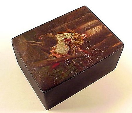 Imperial Russian Lacquered Tea Caddy