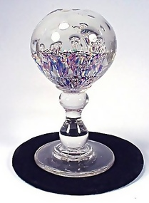 Old South Jersey Glass Paperweight Wig Stand