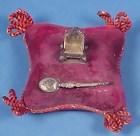 King George V Coronation Sterling Pin Cushion