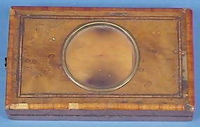 Victorian Inlaid Wooden Stereograph/Graphoscope