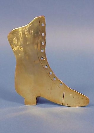 Victorian Brass Fireplace Shoe Whimsy