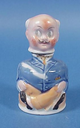 German Porcelain Figural Inkwell