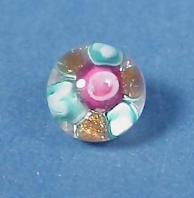 Kaziun Style Rose Glass Paperweight Button