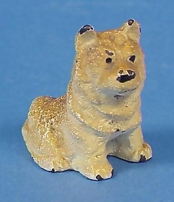 Painted Cast Iron Dog Paperweight