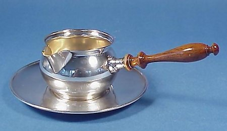 Sterling Silver Sauce Pan & Underplate