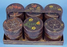 7-pc Tole Spice Canister Set