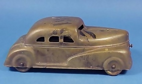 1930's Figural Brass Car Watercolor Set