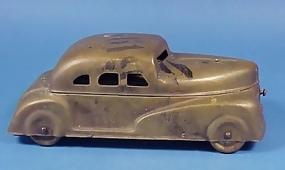 1930's Figural Brass Car Watercolor Set