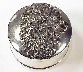 Victorian Silverplate Cufflinks & Studs Box