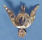Victorian 18K Gold & Diamond Pendant/Brooch