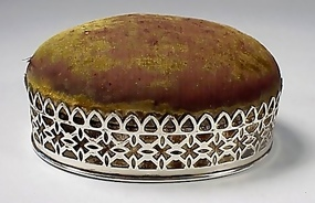 Gorham Victorian Sterling Silver Pin Cushion Sewing Box