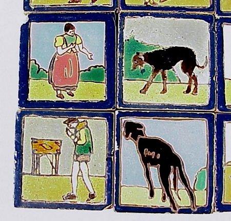 16 Arts & Crafts Spanish Don Quixote Tiles