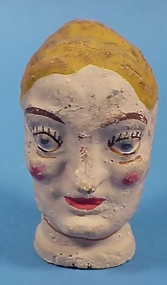 Vintage Composition Folk Art Puppet Head
