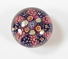 Bohemian Concentric Millefiori Glass Paperweight