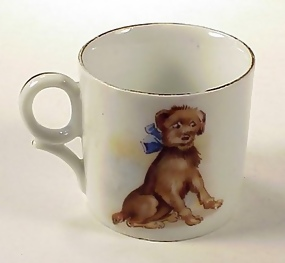 Victorian German Porcelain Child's Cup