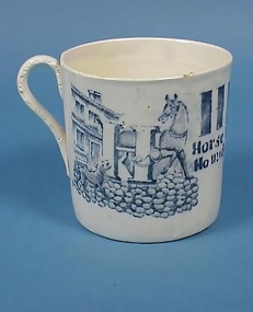 Staffordshire Child's Alphabet Cup