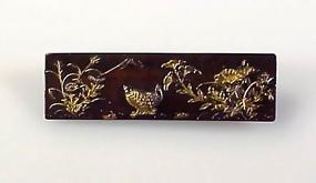 Meiji Period Victorian Shakudo Brooch