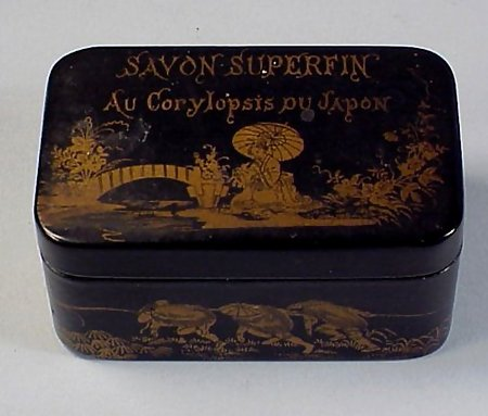 French Victorian Lacquered Papier-Mache Soap Box