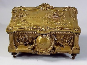 French Louis XVI Bronze Jewel Box