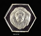 New England Glass Co. Intaglio Lion Glass Paperweight