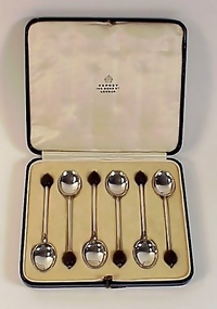 6 Asprey Sterling Silver Coffee or Demitasse Spoons