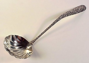 Baltimore Repousse Sterling Silver Soup Ladle
