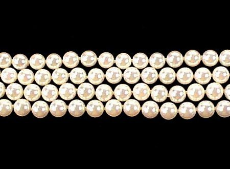 """Mikimoto 29"""" Strand 6mm AA Pearl Necklace 14K Clasp"""