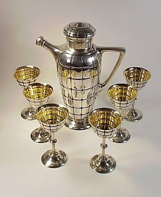 Gorham Modernist Sterling Silver Cocktail Shaker Set