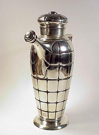 Gorham Modernist Sterling Silver Cocktail Shaker Set