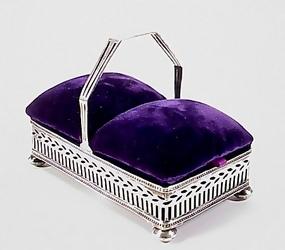Tiffany & Co. Sterling Silver Pin Cushion Sewing Box