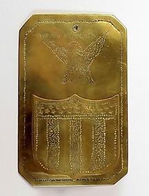 Patriotic Americana IN GOD WE TRUST Brass Match Holder